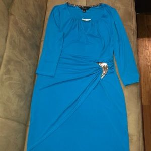 Aqua blue party/formal dress